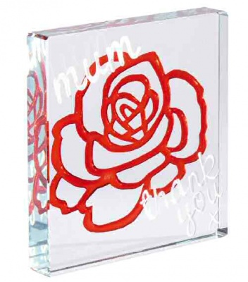 Spaceform Mini Keepsake to Treasure Red Rose Mum Thank You